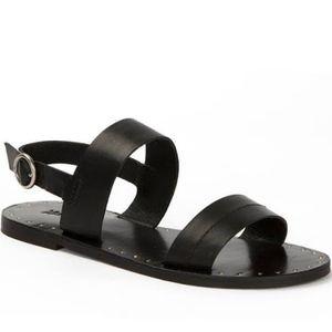 Frye Ally 2 Band Sling Sandal in Black Size 7.5 M